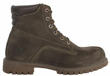 Timberland 6 Inch Basic Mens Boys Leather Brown Lace Up Boots 37580 T1