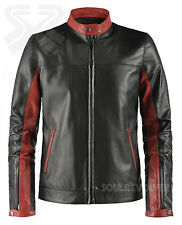 Mens Dark Knight Black Leather Jacket | Crusader | Soul Revolver