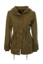 Women's All Season Canvas Parka Jacket Ladies Light Weight Parka Coat