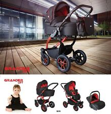 Baby Pram Pushchair Buggy Stroller Grander Lift, Car Seat, Travel System 3 in 1