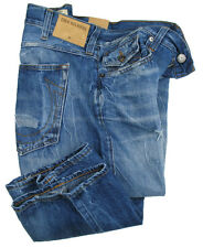 TRUE RELIGION Jeans | Ricky (Relaxed Straight) blue sky train distressed