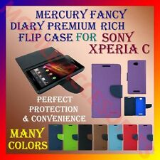 ACM-MERCURY FLIP DIARY CASE RICH for SONY XPERIA C C2305 MOBILE WALLET COVER