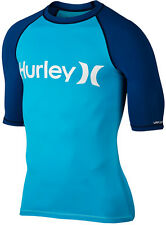 HURLEY ONE AND ONLY SS Lycra 2016 beta blue UV Shirt