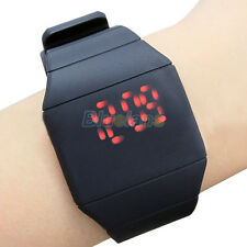 Unisex Donna Uomo Touch Screen Digitale LED Silicone Sport Orologio Da Polso