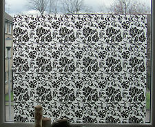 Graceful Floral Frosted Static Glass Decorative Vinyl Privacy Window Film