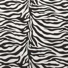 "Printed poly cotton Zebra print fabric material 115cm 45"" wide sold by metre BST"