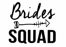 PERSONALISED Bride Squad hen party Iron on T Shirt heat Transfer diy