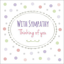 Quality Modern SYMPATHY / THINKING OF YOU Card ~ Standard or Personalised name