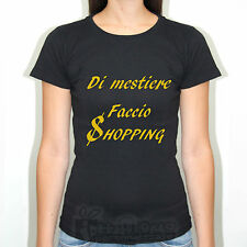T-SHIRT SLIM FIT MAGLIETTA DONNA LAVORO SHOPPING PALESTRA FASHION TOP IRONICA IN