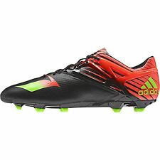 adidas Mens Messi 15.1 Firm Ground Football Boots Shoes Sports Black