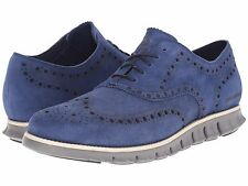 Men's Shoes Cole Haan Zerogrand Wing Oxford Suede C21922 Estate Blue *New*