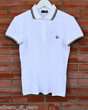 Polo t-shirt  donna m/c  FRED PERRY mod: 31162138 polo piquet stretch