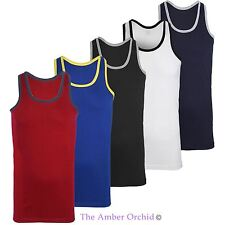 Mens Sleeveless Bodybuilding Gym Vest Cotton Sport Athletic Tank Top T-Shirt