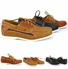Rocus Men's Combined Lace Up Casual Synthetic Leather Oxford Boat Shoes