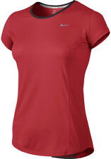 Nike Racer Short Sleeve Ladies Running Top - Red