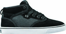 Globe Motley Mid Skateboard Skate Shoes Trainers - Black Suede / Woven