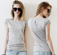 New Womens Summer Short Sleeve Casual T-Shirts 100% Cotton Lips Tee Tops Blouse