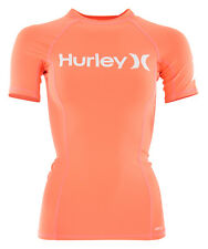 HURLEY ONE AND ONLY SS Lycra 2016 bright mango UV Shirt