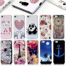 Plastic Slim Hard Phone Case Back Cover Shell for iPhone Wiko Samsung LG Phones