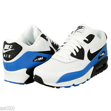 Nike Air Max 90 Essential Mens Running Sports Shoes Trainers - White Blue Black