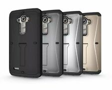 HEAVY DUTY TANK ARMOR HARD CASE KICKSTAND COVER BUILT IN SCREEN PROTECTOR LG G4