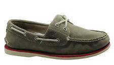 Timberland Classic 2 Eye Mens Boat Shoes Grey Suede Leather Lace Up 6168A T3