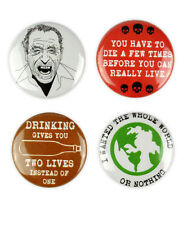 Charles Bukowski inspired Badges, Post Office, Ham on Rye, Notes of a Dirty Old