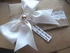 Vintage/Rustic Personalised Wedding Favours - Empty/Filled - Large 12cm Gift Box