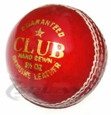 Club Cricket Ball Splay Leather Junior Senior Adult Youth Alum Tanned 4piece