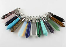 Gemstone Rock Crystal Healing Point Chakra Reiki Pendant Bead For Necklace