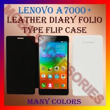 ACM-LEATHER DIARY FOLIO FLIP CASE COVER for LENOVO A7000+ PLUS FRONT & BACK NEW