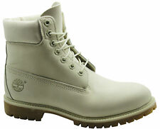Timberland AF 6 Inch Premium Mens Boots White Leather Winter Casual 6816B D20