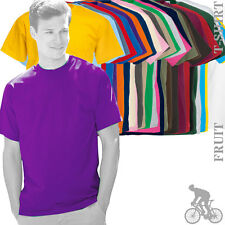 5 x Fruit Of The Loom 61036 Valueweight Mens T-Shirt di cotone 27 Cols