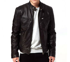 Gordania Stylish Slim Fit Biker Jacket PU Leather Jacket For Men GD274