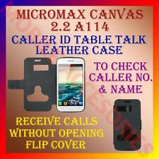 ACM-CALLER ID TABLE TALK CASE MICROMAX CANVAS 2.2 A114 MOBILE FLIP FLAP COVER