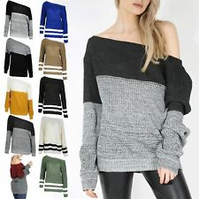 Ladies Oversized Long Sleeves Baggy Womens Chunky Knitwear Pullover Jumper Top