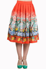 Banned Palm Springs 1950s Palm Tree Skirt Vintage Rockabilly Swing Retro New
