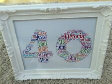 21st 30th 40th Birthday Personalised Word Art Gift Present, Print or Framed?