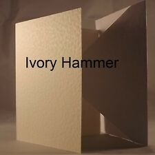 Ivory Hammer 5x7 Quality 240gsm Card Blanks select pack size 1st class FREE Post