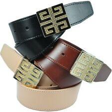 Brand New Detailed Buckle Genuine Leather Ladies Wide Designer Belt RRP $79.99