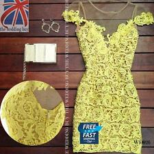 Ladies Sleeveless Bandage Bodycon Lace Evening Sexy Party Cocktail Dress WD026