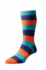 Scott-Nichol Heritage English Socks. The Henley Sock with Rib Block Stripe