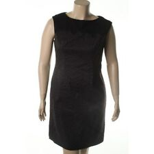 Adrianna Papell  Black Lace Trim Sleeveless Party Cocktail Dress  - NEW