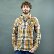 SuperDry CAMICIA SCACCHI mod. LUMBERJACK TWILL Ocra