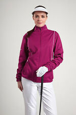 GLENMUIR LADIES ZIP FRONT PIPED WIND GOLF JACKET VEGAS/WHITE