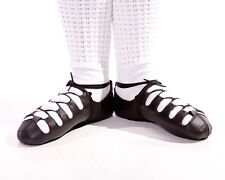 Black leather Irish Dancing Soft Shoes   - all sizes