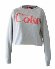 New ex Coca Cola Grey Crop Loose Fit Sweatshirt RRP £25
