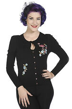 Flamingo Floral Rockabilly 50's Vintage Retro Rockabilly Cardigan Banned Apparel