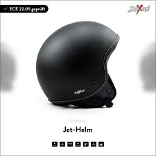 SOXON SP-301 Night CASCHI Demi-JET Vespa CASCO HELMET Moto Scooter XS S M L XL