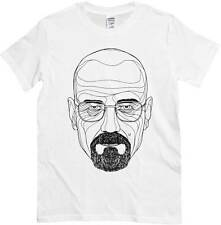 T-shirt Breaking Bad, T-shirt white with drawing Heisenberg, Series Tv cult